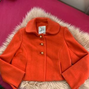 Milly of New York orange cropped woman's jacket